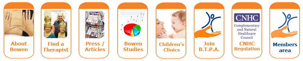 Bowen Therapy Professional Association, BTPA, for a register of Bowen Therapist